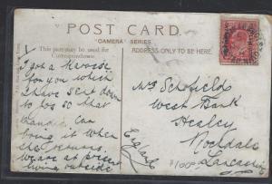 BECHUANALAND  (P2710B)  1912  KE 1D ON PPC TO ENGLAND