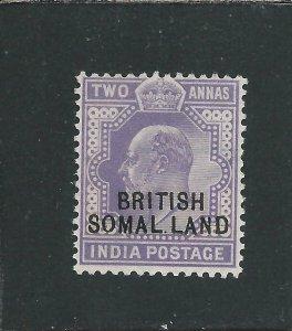 SOMALILAND 1903 2a VIOLET MISSING I (SOMAL LAND) APPEARS MNH SG 27d CAT £130