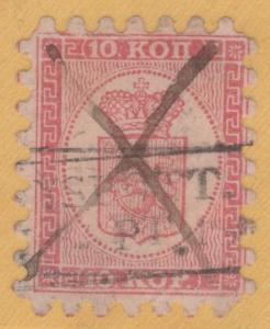 Finland 5 Pen-Nyslott Low Box Cancel Rare ,1860 Nice 10 kop Facit 4C1LKa rare