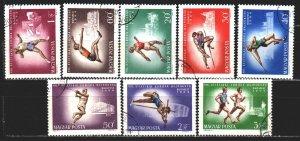 Hungary. 1969. 2262-69. European Athletics Championships. USED.