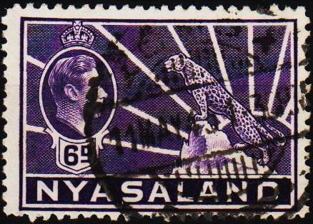Nyasaland. 1938 6d S.G.136 Fine Used
