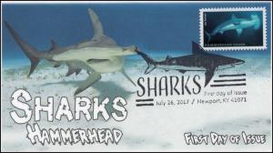 17-190, 2017, Sharks, Hammerhead, Pictorial Postmark, FDC