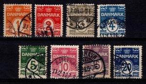 Denmark 1905-17 Christian IX Definitive Set [Used]