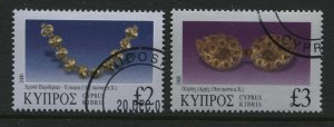 Cyprus 2000 £2 and £3 used