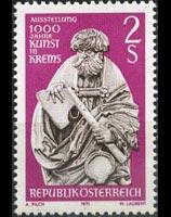 AUSTRIA 1971 - Scott# 898 St.Matthew Statue Set of 1 NH