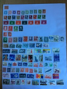Norway 100+ stamps - Lot B
