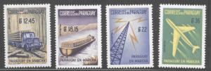 Paraguay Scott C278-C281 en Marcha airmail set MH*