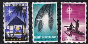 Gilbert & Ellice Islands # 190-192, Christmas, NH, 1/2 Cat.