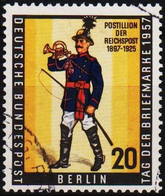 Germany(Berlin).1957 20pf S.G.B172 Fine Used