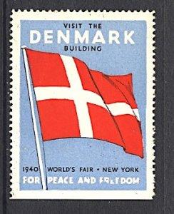 USA New York World's Fair 1939/40 Denmark Building 1940 Danish Flag