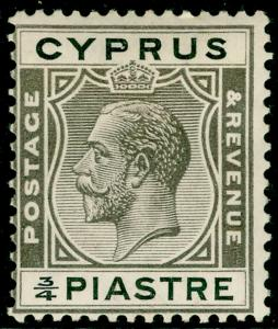 CYPRUS SG119, ¾pi brownish black & black, M MINT.