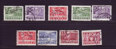 Sweden Sc 239-47 1935 500th anniv Parliament stamps used