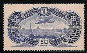 FRANCE 1936 SC# C15 AIR MAIL Mint XF NH $1700.00 With 2 Cert (Jean Claude Fourca