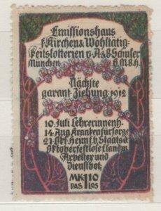 Germany - 1912 Church Lottery Charity Stamp, Munich - NG