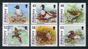 Alderney 2011 MNH Bailiwick Birds Shelduck Woodcock Grebe 6v Set Ducks Stamps