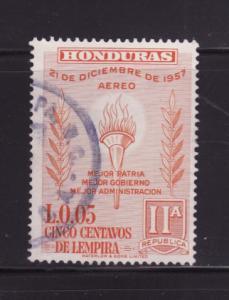 Honduras C304 U Torch and Olive Branch (A)