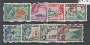 Pitcairn Islands KGVI 1940 Part Set To 2s 6d MH JK5625