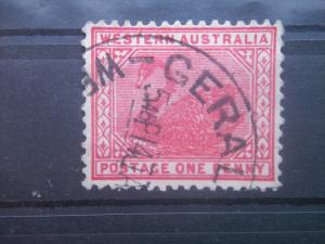WESTERN AUSTRALIA, 1890-3, used 1d, Swan, Scott 62/76
