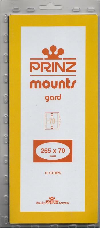 PRINZ CLEAR MOUNTS 265X70 (10) RETAIL PRICE $13.00