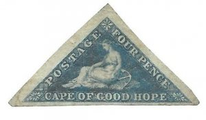 Cape of Good Hope 1855 Rare 4 Pence #4(d) MH CAT $600.00+ BEST OFFER