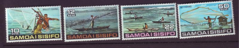 J29636 Jlstamps 1976 samoa set mnh #433-6 fishing