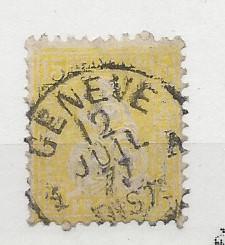 Switzerland, 54, Helvetia Bull's Eye Xcl Single,**Used**