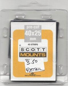 SCOTT MOUNT 901B, 40 MM X 25 MM, RETAIL $3.50
