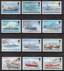 BRITISH ANTARCTIC 1993 Research Ships; Scott 202-13, SG 218-29; MNH
