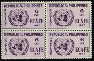 Philippines Stamp  1947 Conference Issue 6c MNH/OG stamp BLK OF 4