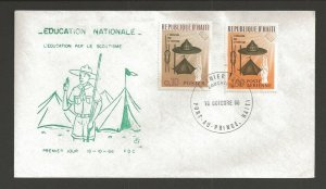 1966 Haiti Boy Scouts Education FDC