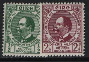 IRELAND, 124-125, HINGED, 1943 Dr. Douglas Hyde