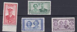 BECHUANALAND  1947  S G 132 - 135  SET OF 4    MH