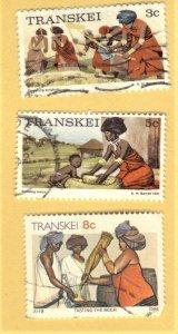 TRANSKEI SC# 7,9,136 **USED** 3,5,8c  1976-90  SEE SCAN