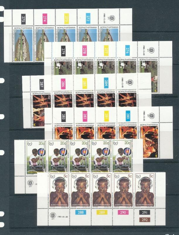 Bophuthatswana 1980/81 Easter Disabled Strips MNH (60 Stamps) LP37