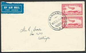 NEW ZEALAND 1937 first flight cover Wanganui - Wellington..................56780