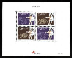 D1-Portugal Azores-Sc#427-unused NH sheet-Europa 1994-