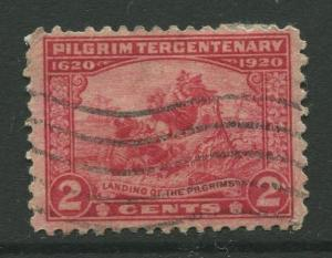 STAMP STATION PERTH USA #549 Pilgram Tercentenary 1920 Used CV$1.60.