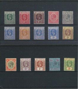 ST LUCIA 1921-26 SET OF FIFTEEN MM SG 91/105 CAT £140