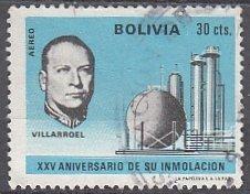 Bolivia, Sc RAC 3, Used, 1971, Pres. Villarroel, (AA01758)