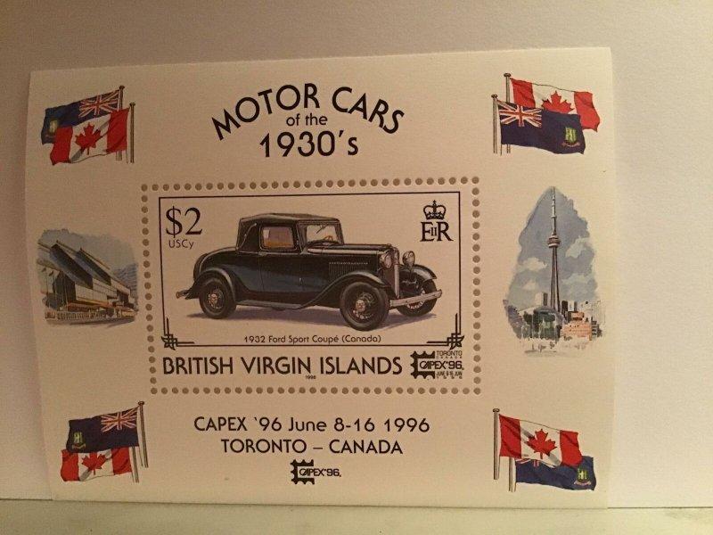British Virgin Islands motor cars 1930's mint never hinged  sheet stamp R21803
