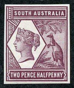 South Australia 1894 2 1/2d Colour Trial in Purple no wmk Paper Fresh U/M