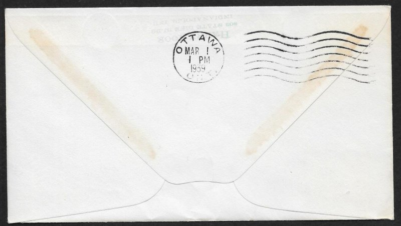 CANADA First Flight Cover c1939 North Bay to Ottawa