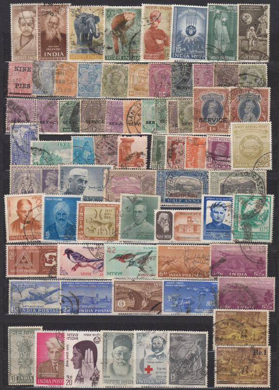 India - Small stamp lot - (1927)