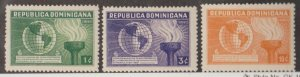 Dominican Republic Scott #332-333-334 Stamp - Mint Set