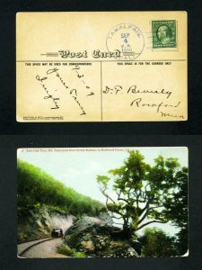 FREE SHIPPING - # 331 Picture Post Card from Tamalpais, CA, DPO - 9-4-1909