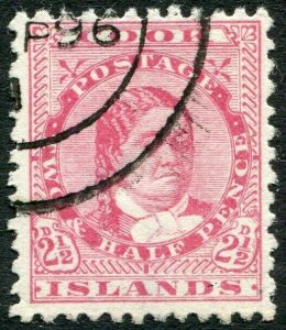 COOK ISLANDS-1893-1900 2½d Rose Sg 8 FINE USED V33836