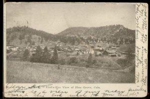 USA 1906 PINE GROVE Colorado Indian Territory Cover Postcard 94220
