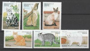 BENIN #1094-9 MINT NEVER HINGED COMPLETE CATS