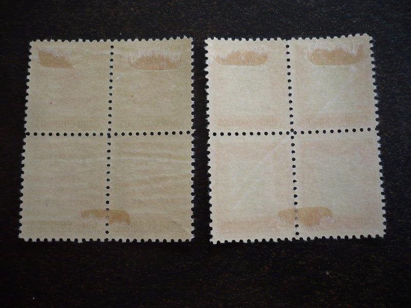 Stamps - Cuba - Scott#469-470  - Mint Hinged Set of 2 Stamps - Blocks of 4