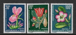 MALI, 55-57, MINT HINGED HINGE REMNANT, FLOWERS